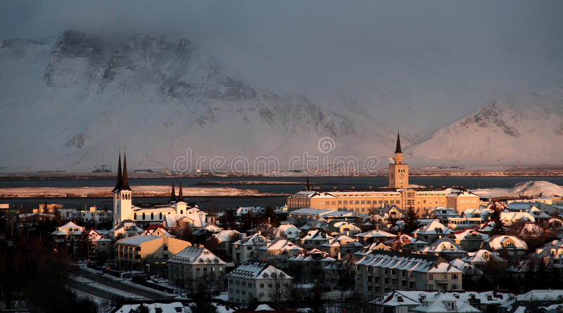 Arktisk vinter Sun arkivfoto