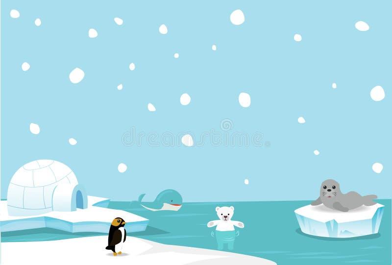 arktiska djur royaltyfri illustrationer