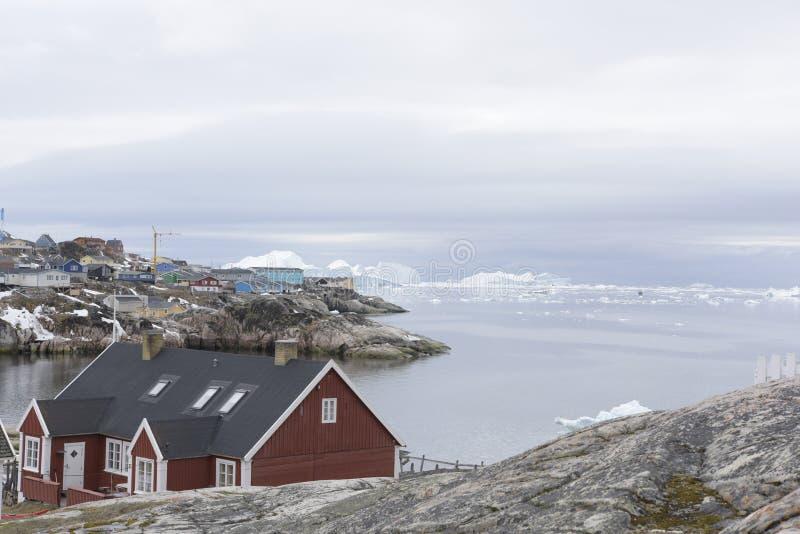 Arktiskt isberg i Ilulissat i det arktiska havet royaltyfri fotografi