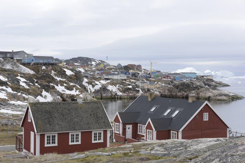 Arktiskt isberg i Ilulissat i det arktiska havet arkivbild