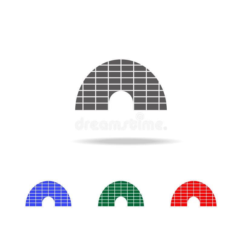 Arktyczna lodu domu ikona Elementy zima w wielo- barwionych ikonach Premii ilości graficznego projekta ikona Prosta ikona dla str ilustracja wektor