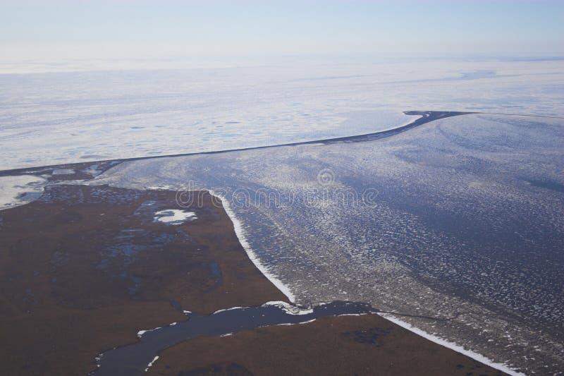 arktyczna tundrze lotnicza fotografia stock