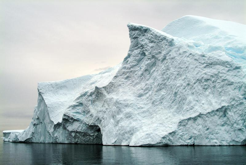 Arktycznego oceanu lodu środowisko z zachodniego wybrzeża Greenland obrazy royalty free