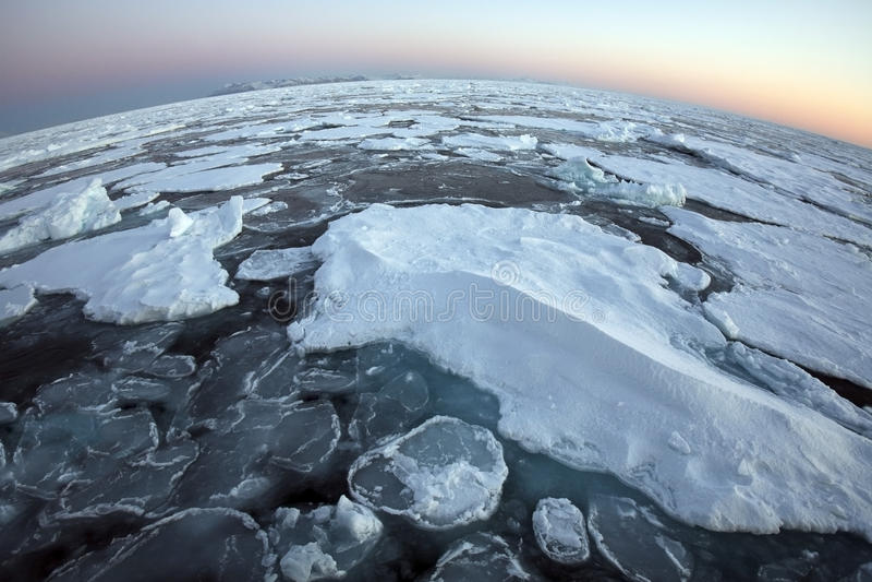 arktycznego oceanu wierzchołka świat zdjęcie stock