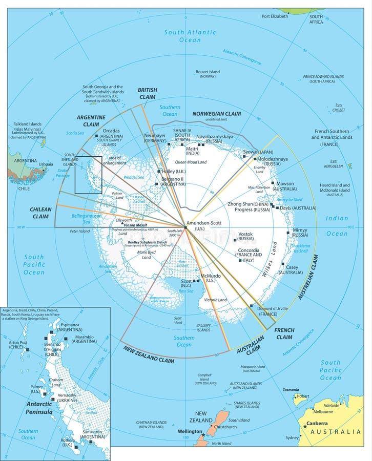 Arktycznego regionu mapa ilustracji