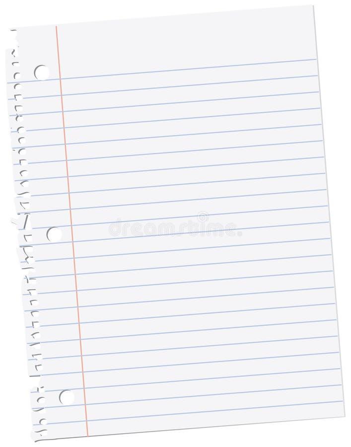 arkusz papieru notes ilustracji