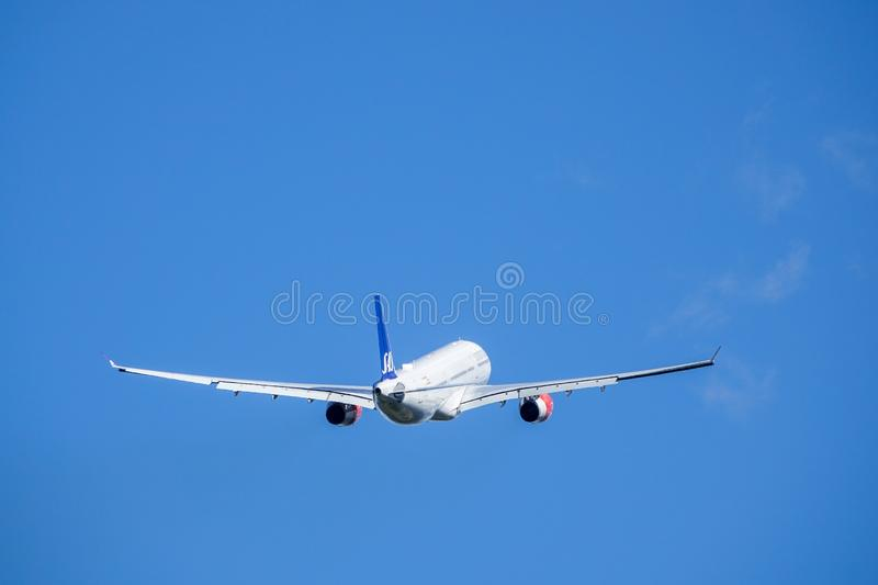 SAS Scandinavian Airlines, Airbus A330 - 300 take off royalty free stock photos