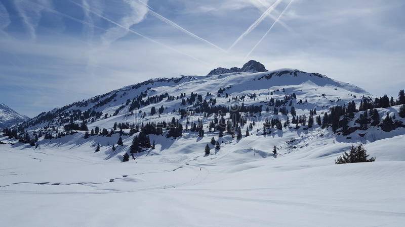 Arlberg lizenzfreie stockfotos
