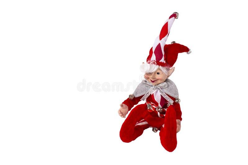 Arlekińska miękkiej części zabawka odizolowywająca na białym tle zdjęcia royalty free
