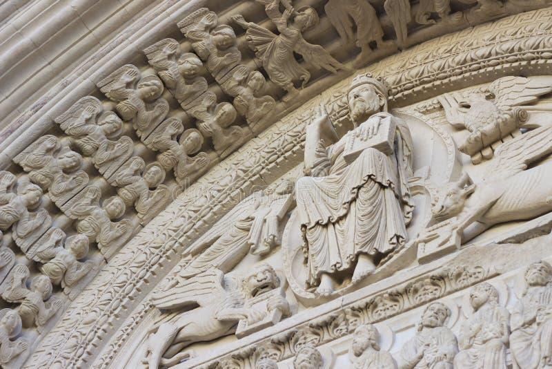 arles教会法国普罗旺斯st trophime 免版税库存照片