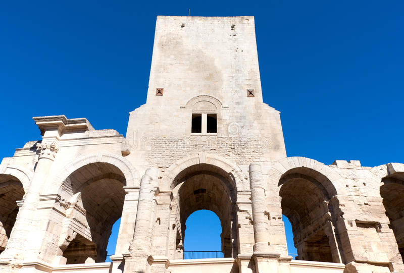 Download Arles Amphitheatre stock image. Image of structure, amphitheatre - 27255511