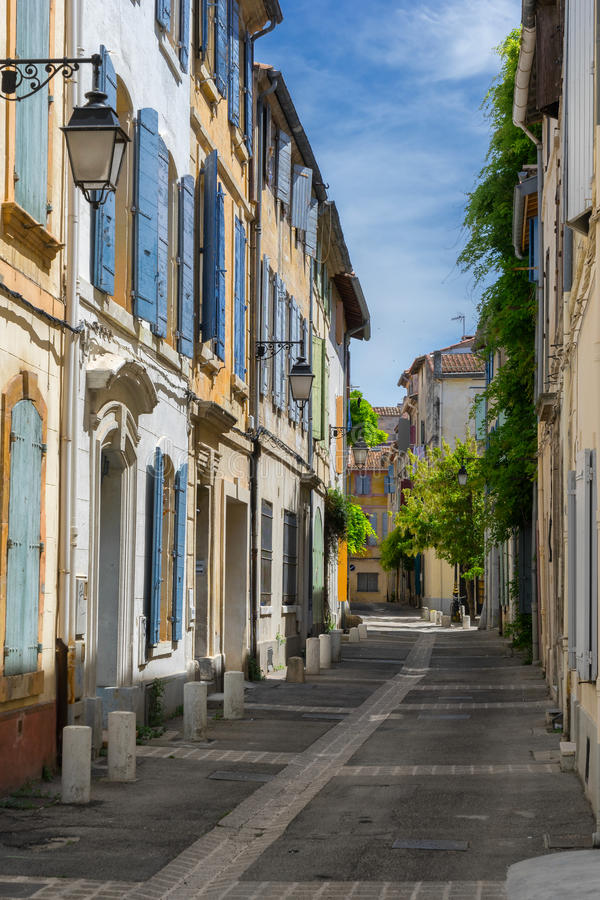 Arles em Bouches du Rhone foto de stock