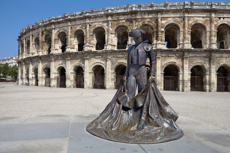 Arles, France - 15 juillet 2013 : Roman Arena (amphithéâtre) dans Arl photos stock