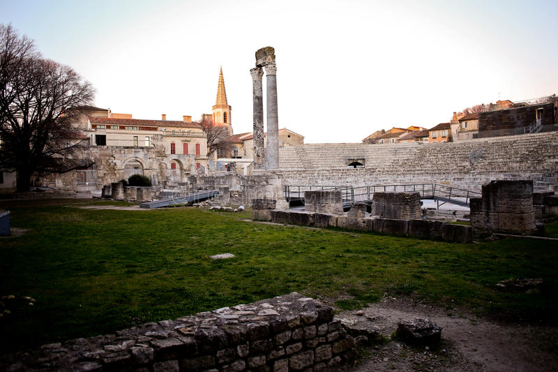 Arles French pronunciation Occitan: Arle in both classical and Mistralian norms; Arelate in ancient Latin royalty free stock image