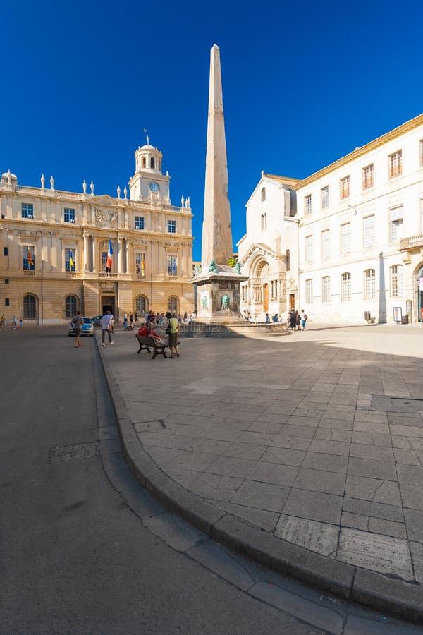 Arles Place de la Republique stockfotografie