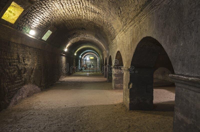 Arles podziemne rzymskie ruiny obrazy royalty free