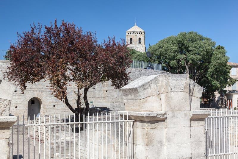 Arles Romański teatr Provence Francja obraz stock