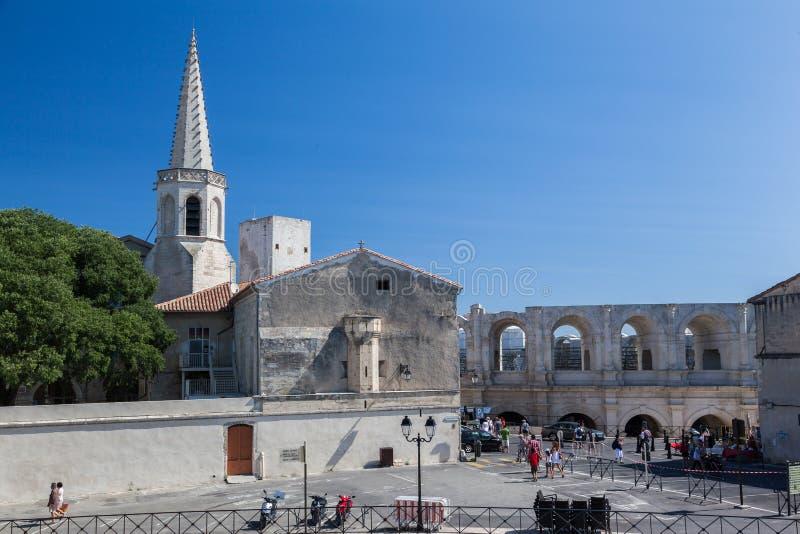 Arles Romański teatr Provence Francja zdjęcie royalty free