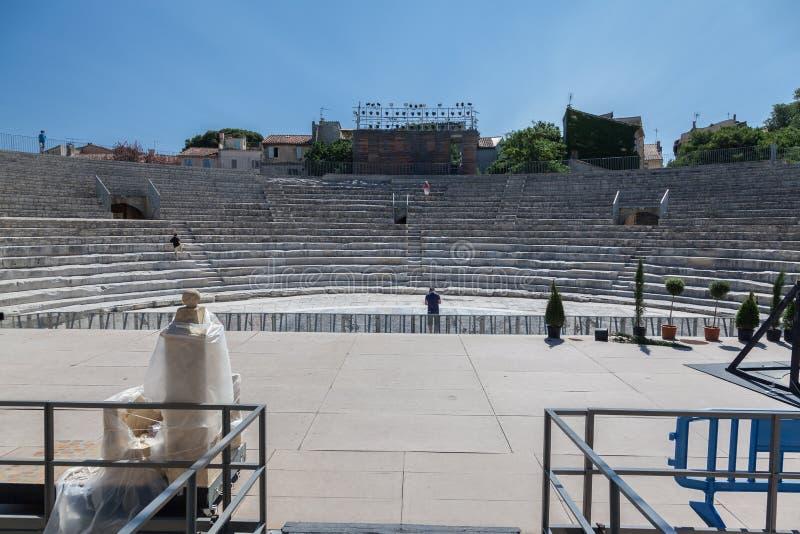 Arles Romański teatr Provence Francja fotografia royalty free