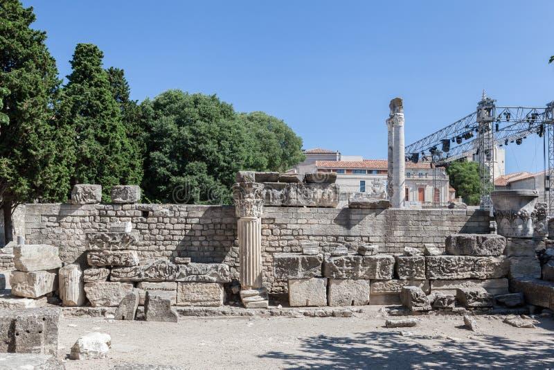 Arles Romański teatr Provence Francja obraz royalty free