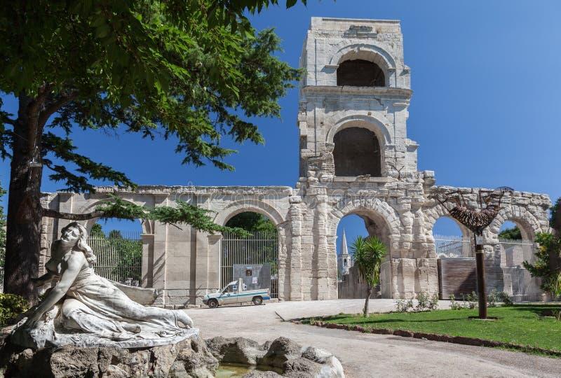 Arles Romański teatr Provence Francja zdjęcia royalty free