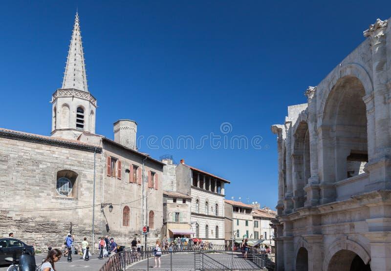 Arles Roman Arena Provence France lizenzfreie stockbilder