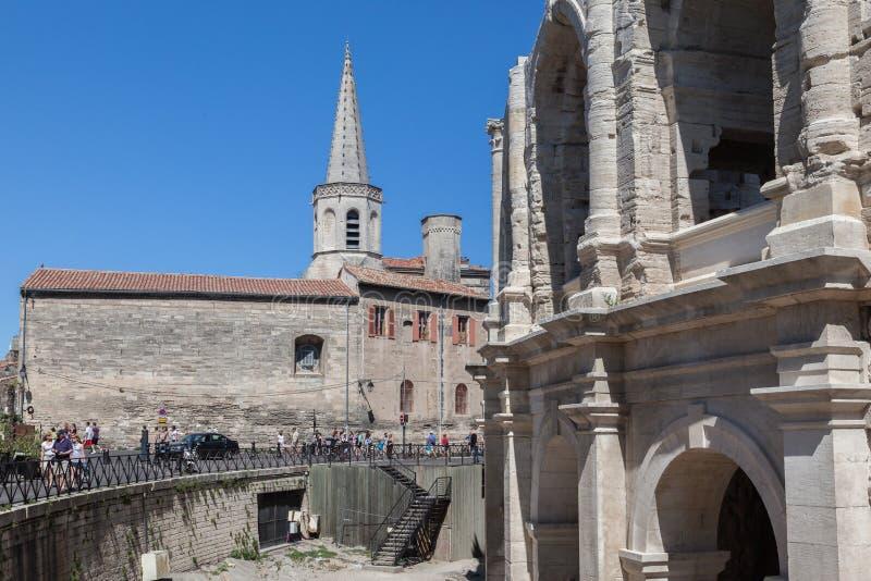 Arles Roman Arena Provence France lizenzfreie stockfotografie