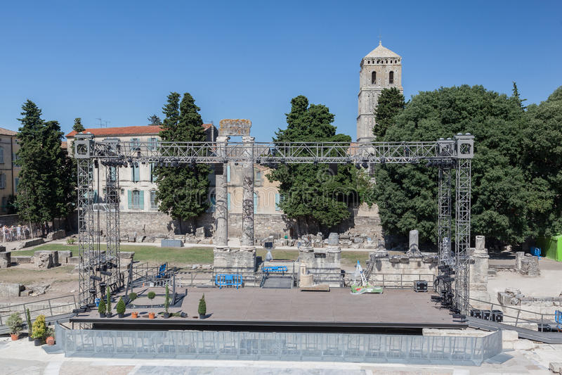 Arles Roman Theater Provence France stockfotos