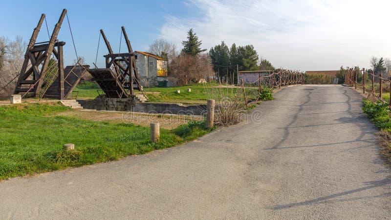 Arles Van Gogh Bridge. Pont Van Gogh Langlois Bridge in Arles France royalty free stock photos