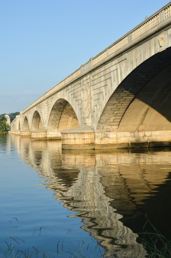 arlington bridżowy dc pomnik usa Washington zdjęcie stock