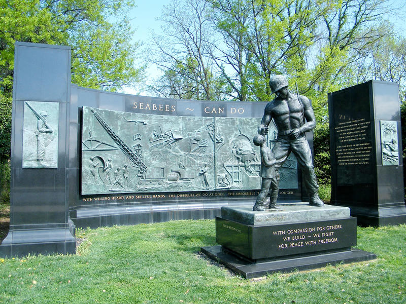 Arlington cimitero SEABEES memoriale aprile 2010 fotografie stock libere da diritti