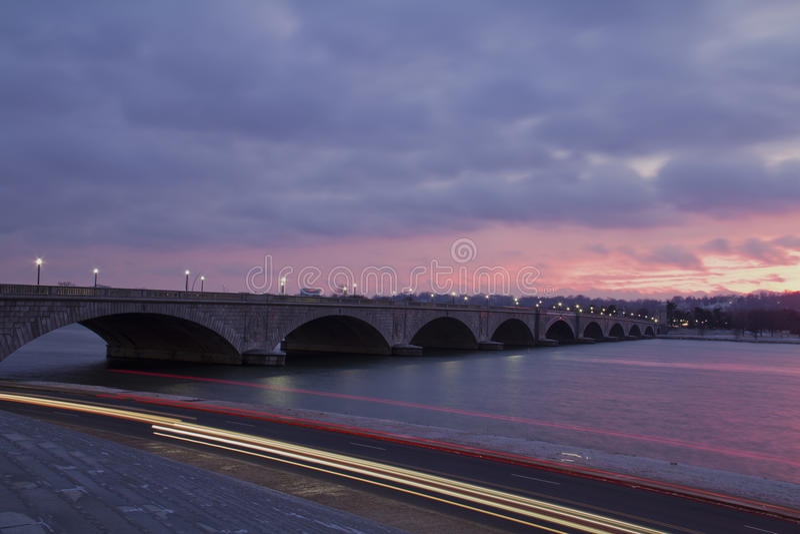 Arlington-Denkmal-Brücke lizenzfreie stockbilder