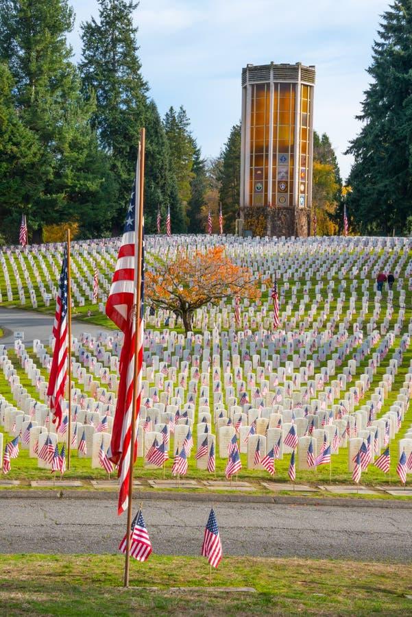Arlington des Westveteranen-Denkmal-Kirchhofs lizenzfreie stockbilder