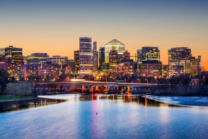 Arlington Financieel District stock afbeeldingen