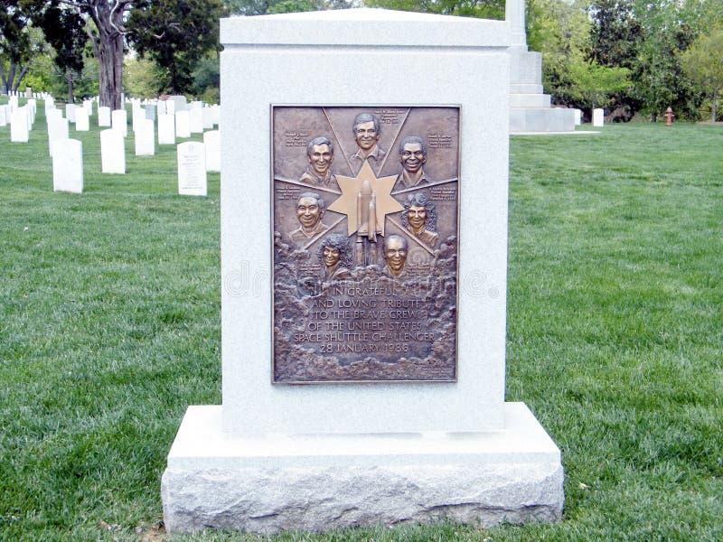 Arlington-Kirchhof das Herausforderer-Denkmal 2010 lizenzfreie stockfotos