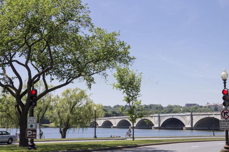 Arlington Memorial Bridge. The Arlington Memorial Bridge over Potomac river, Washington DC, United States stock images