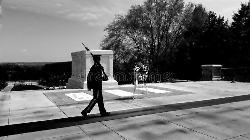 Unknown soldiers stock image