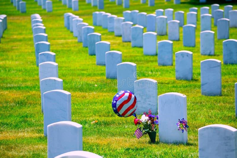 Arlington Nationale Begraafplaats VA dichtbij Washington DC royalty-vrije stock foto's