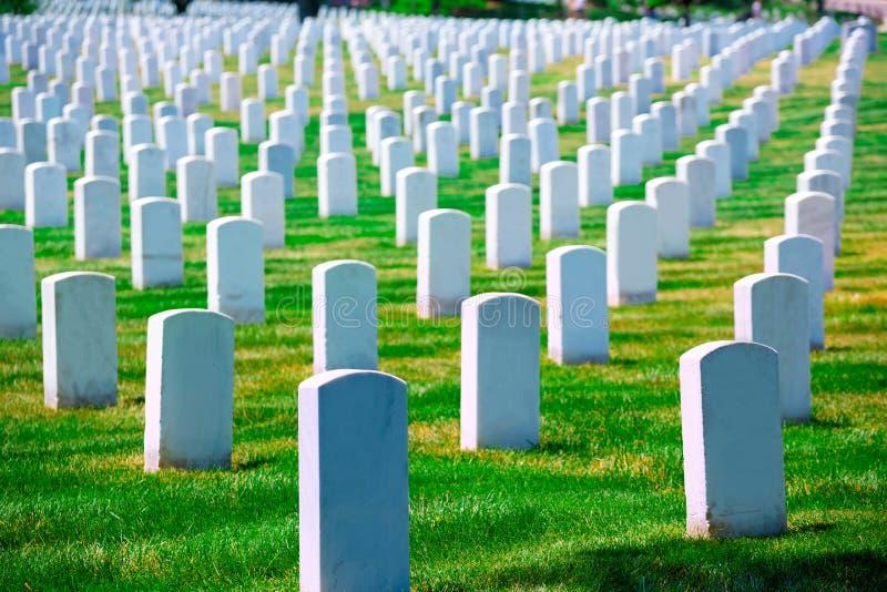 Arlington Nationale Begraafplaats VA dichtbij Washington DC royalty-vrije stock fotografie