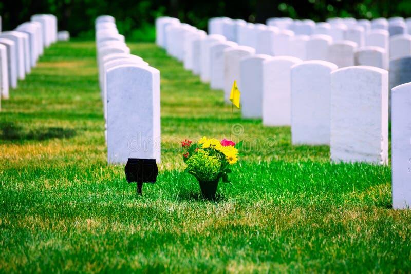 Arlington Nationale Begraafplaats VA dichtbij Washington DC royalty-vrije stock foto