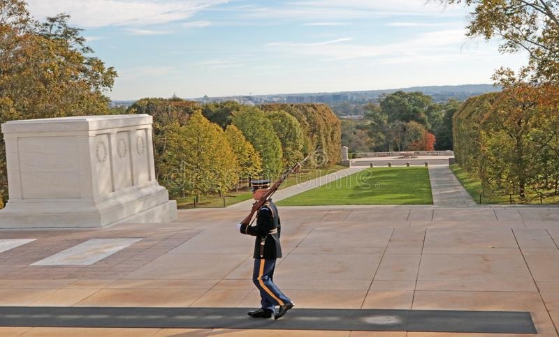 Arlington Nationale Begraafplaats, Virginia, de V.S. royalty-vrije stock afbeelding