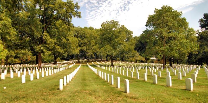 Arlington-nationaler Friedhof stockbild
