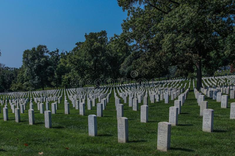Arlington-nationaler Friedhof in DC stockfotos