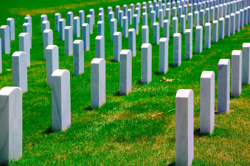 Arlington-nationaler Friedhof VA nahe Washington DC stockfoto