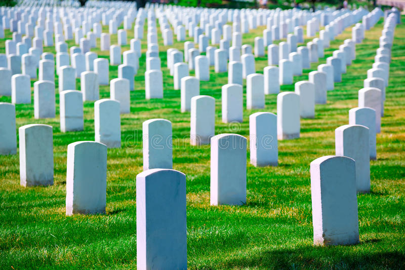 Arlington-nationaler Friedhof VA nahe Washington DC lizenzfreie stockfotografie