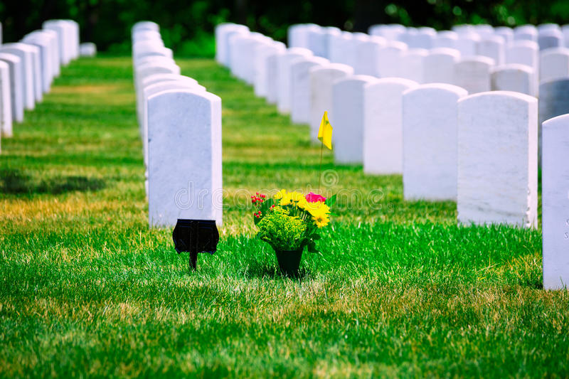 Arlington-nationaler Friedhof VA nahe Washington DC lizenzfreies stockfoto
