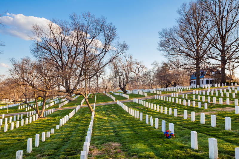 Arlington-nationaler Friedhof, Washington DC stockfotos