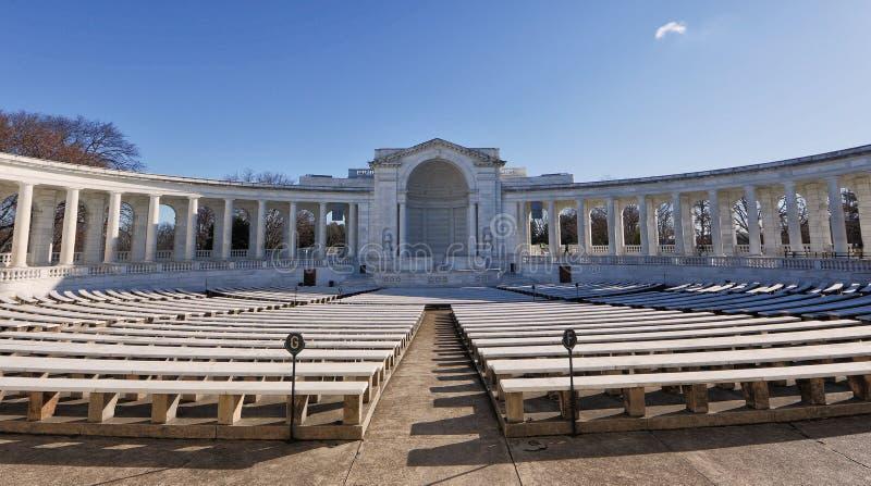 Arlington-nationaler Kirchhof-Amphitheater stockbild
