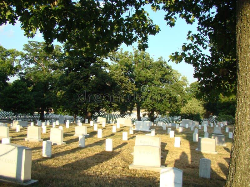 Arlington Nationalkyrkogård arkivbilder