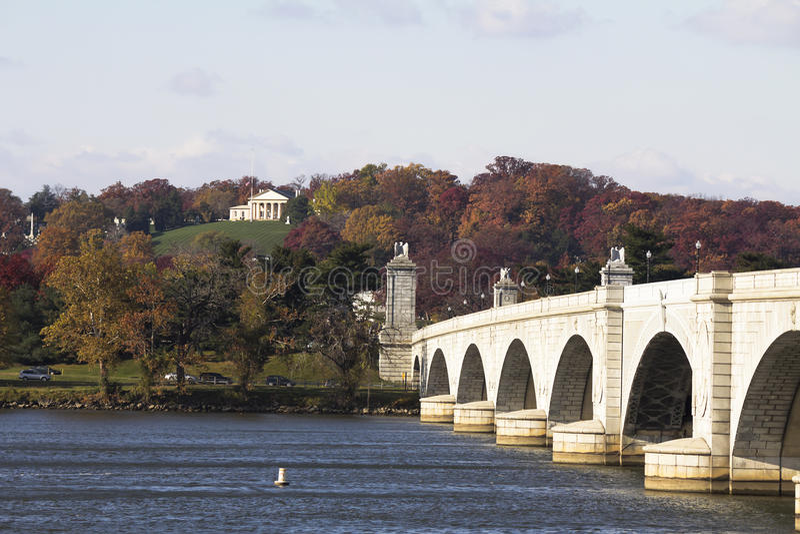 Arlington pomnika most zdjęcia stock